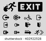 fire exit vector icon set.... | Shutterstock .eps vector #402922528
