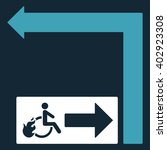 disabled person fire exit turn... | Shutterstock .eps vector #402923308