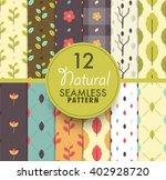 12 natural seamless pattern...