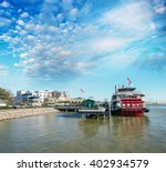 Docked Steamboat In New Orleans