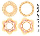 collection of orange round... | Shutterstock .eps vector #402942889