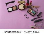 various makeup products on dark ... | Shutterstock . vector #402945568