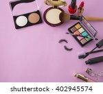 various makeup products on dark ... | Shutterstock . vector #402945574