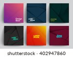 set of abstract cards with... | Shutterstock .eps vector #402947860