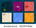 Set Of Abstract Cards With...