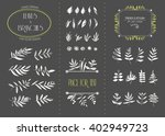 hand drawn floral elements. set ... | Shutterstock .eps vector #402949723