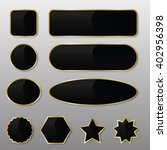 Set Of 10 Elegant Black With...