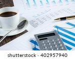 financial charts and graphs on... | Shutterstock . vector #402957940