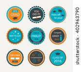 set of graduation cupcake... | Shutterstock .eps vector #402963790