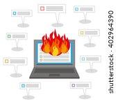 internet burst into flaming... | Shutterstock .eps vector #402964390