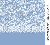 White Lace With Floral Pattern...