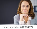 thoughtful middle aged... | Shutterstock . vector #402968674