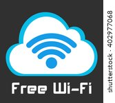 free wifi vector sign. wireless ...