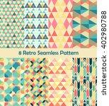 8 retro different vector... | Shutterstock .eps vector #402980788
