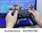 thailand  october 2  hand... | Shutterstock . vector #402985780