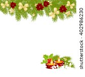 christmas card with candles... | Shutterstock . vector #402986230