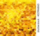 abstract gold triangle... | Shutterstock . vector #402986863