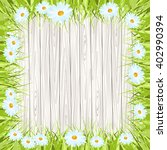 fresh spring green grass with... | Shutterstock . vector #402990394