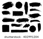 vector set of grunge artistic... | Shutterstock .eps vector #402991204