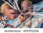 weaving hands | Shutterstock . vector #402992206