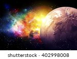 planets galaxy  the over light  ... | Shutterstock . vector #402998008