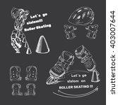 vector illustration of set for... | Shutterstock .eps vector #403007644