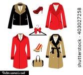 women's classical coat vector... | Shutterstock .eps vector #403027258