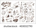 set of artistic doodles ... | Shutterstock .eps vector #403032790