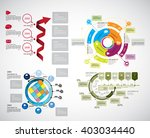 collection of infographic... | Shutterstock .eps vector #403034440