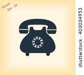 phone icon | Shutterstock .eps vector #403034953