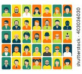 avatars and user pics for... | Shutterstock .eps vector #403036030