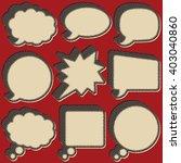 vintage retro halftone speech... | Shutterstock .eps vector #403040860