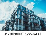 low angle view of glass windows ... | Shutterstock . vector #403051564