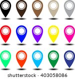 set of bright map pointers ... | Shutterstock .eps vector #403058086