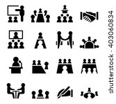 meeting icon set vector...