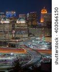 cincinnati skyline at night | Shutterstock . vector #403066150