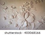 Flowers Carved Sandstone Walls.