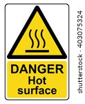 danger hot surface yellow... | Shutterstock . vector #403075324