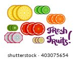 a set of bright and juicy... | Shutterstock .eps vector #403075654