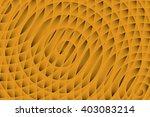Three Orange Spirals