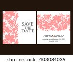 vintage delicate invitation... | Shutterstock .eps vector #403084039