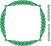 celtic knot ornamental frame...   Shutterstock .eps vector #403090498