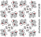 pattern sale  hand drawing ... | Shutterstock .eps vector #403091638