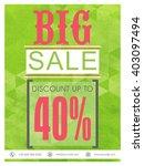 big sale flyer  sale banner ... | Shutterstock .eps vector #403097494