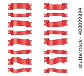 the collection of red ribbons... | Shutterstock .eps vector #403099894