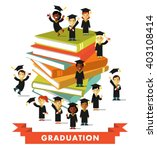 graduation education concept ... | Shutterstock .eps vector #403108414
