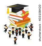graduation education concept ... | Shutterstock .eps vector #403108420