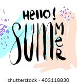summer watercolor design....   Shutterstock .eps vector #403118830