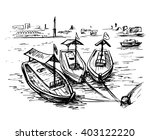 uae   dubai creek boats at the... | Shutterstock .eps vector #403122220