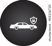 car lock protection sign simple ...   Shutterstock .eps vector #403126720